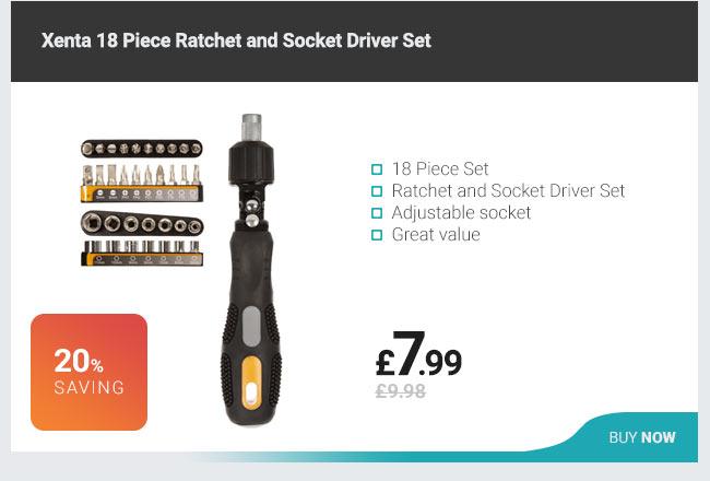 Xenta 18 Piece Ratchet and Socket Driver Set