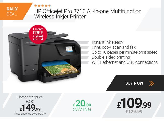 HP Officejet Pro 8710 All-in-one Multifunction Wireless Inkjet Printer