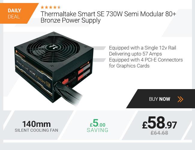 Thermaltake Smart SE 730W Semi Modular 80+ Bronze Power Supply