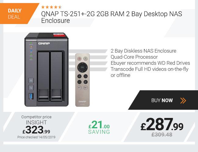 QNAP TS-251+-2G 2GB RAM 2 Bay Desktop NAS Enclosure