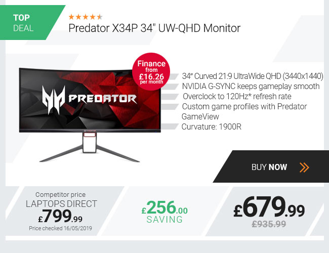 Predator X34P 34in UW-QHD Monitor