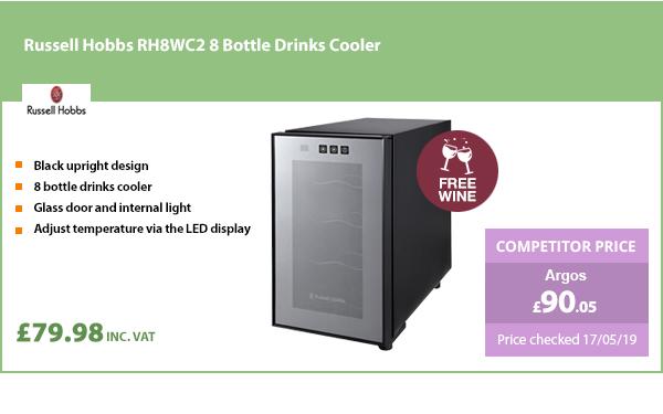 Russell Hobbs RH8WC2 8 Bottle Drinks Cooler