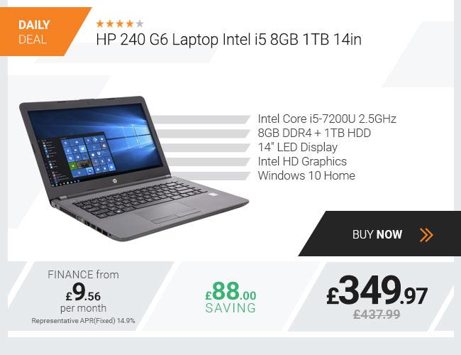 HP 240 G6 Laptop Intel i5 8GB 1TB 14in