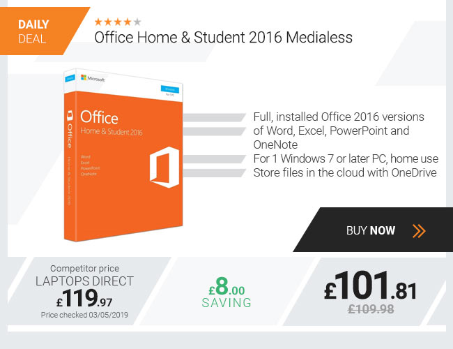 Office Home & Student 2016 Medialess
