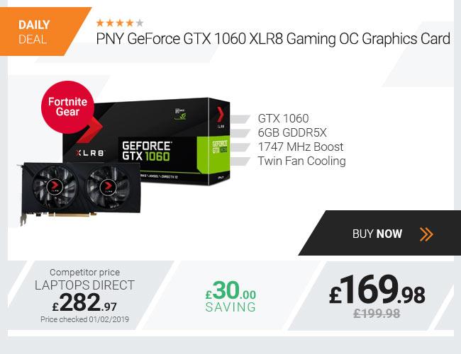 PNY GeForce GTX 1060 XLR8 Gaming OC 6GB GDDR5X Graphics Card