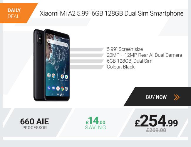 Xiaomi Mi A2 5.99in 6GB 128GB Dual Sim Smartphone Black