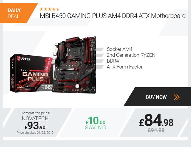 MSI B450 GAMING PLUS AM4 DDR4 ATX Motherboard