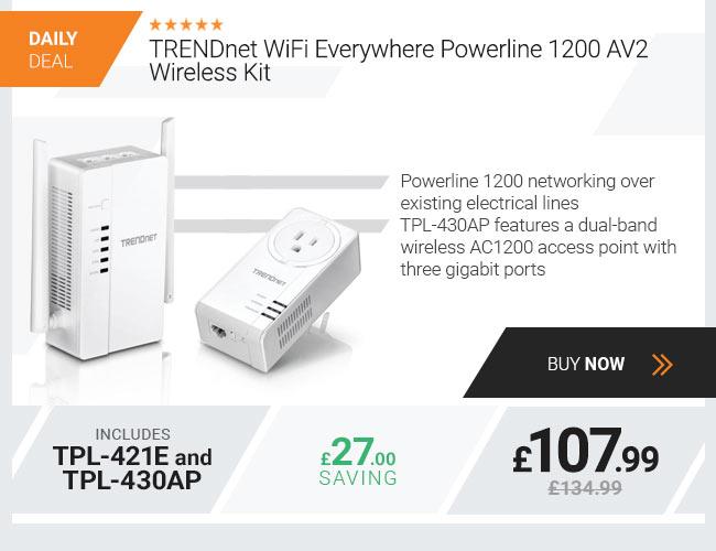 TRENDnet WiFi Everywhere Powerline 1200 AV2 Wireless Kit