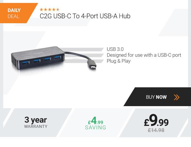 C2G USB C 4 port USB A Hub
