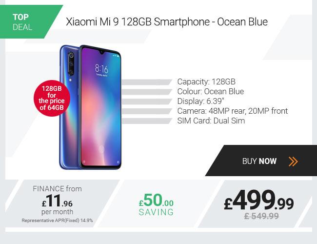 Xiaomi Mi 9 128GB Smartphone - Ocean Blue