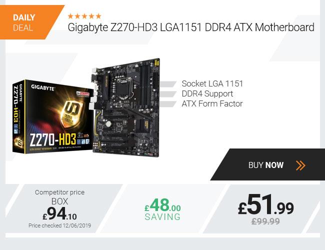 Gigabyte Z270-HD3 LGA1151 DDR4 ATX Motherboard