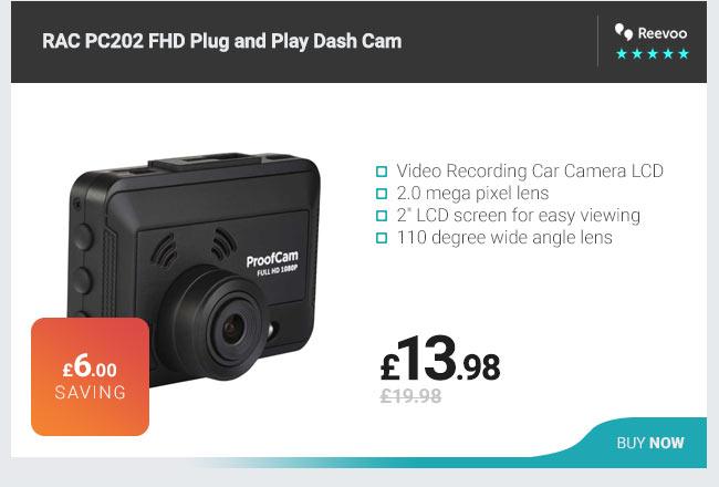 RAC PC202 FHD Plug and Play Dash Cam