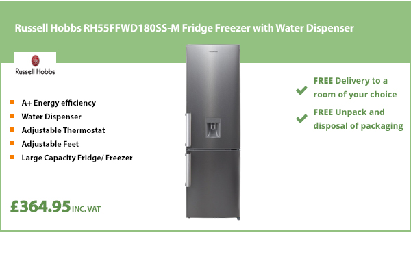 Russell Hobbs RH55FFWD180SS-M Fridge Freezer with Water Dispenser