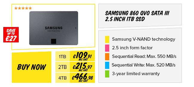 Samsung 860 QVO SATA III 2.5 inch SSD