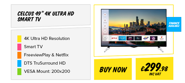 Celcus 49in 4K Ultra HD Smart TV