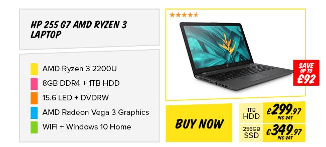 HP 255 G7 AMD Ryzen 3 8GB Laptop