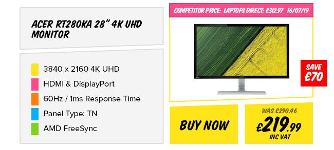 Acer RT280KA 28in 4K UHD Monitor