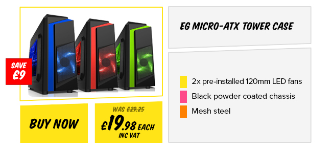 EG Micro-ATX Tower Case - Green