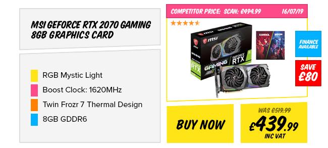 MSI GeForce RTX 2070 GAMING 8GB Graphics Card