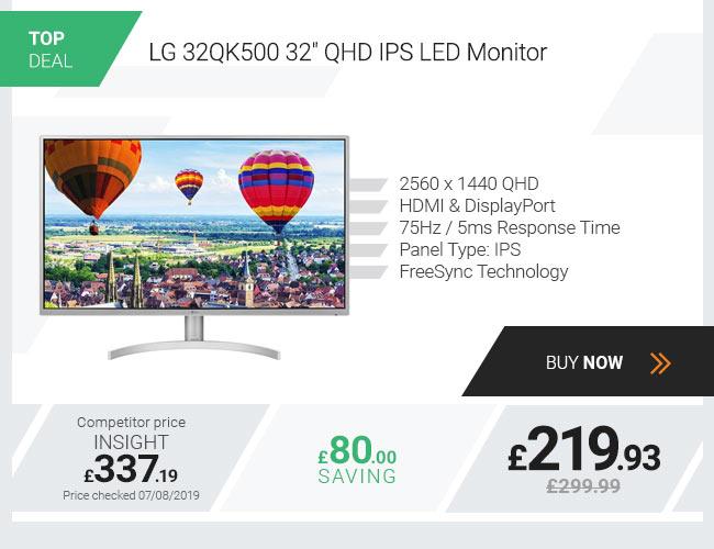 LG 32QK500 32in QHD IPS LED Monitor