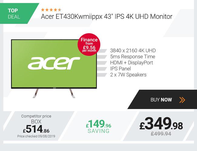Acer ET430Kwmiippx 43 IPS 4K UHD Monitor