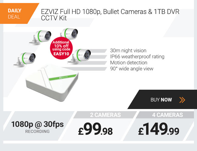 EZVIZ Full HD 1080p Bullet Cameras & 1TB DVR CCTV Kit