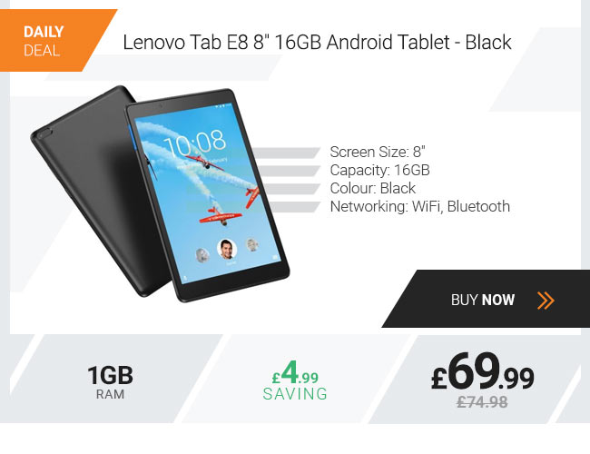 Lenovo Tab E8 8 16GB Android Tablet - Black