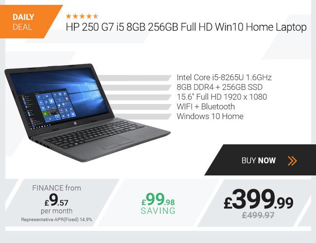 HP 250 G7 Laptop, Intel Core i5-8265U 1.6GHz, 8GB 256GB Laptop