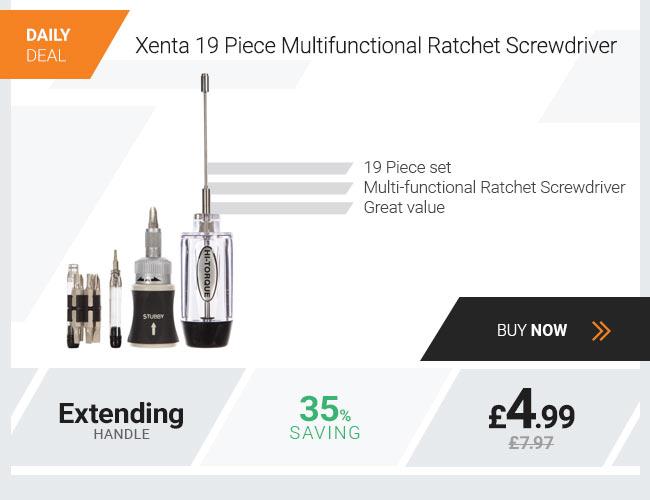 Xenta 19 Piece Multifunctional Ratchet Screwdriver