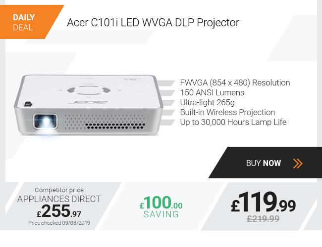 Acer C101i LED WVGA DLP Projector