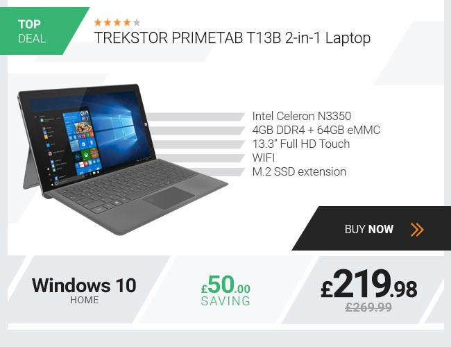 TREKSTOR PRIMETAB T13B 2-in-1 Laptop, Intel Celero