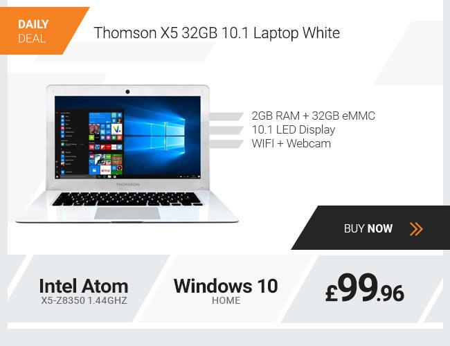 Thomson X5 32GB 10.1 Laptop, Intel Atom x5-Z8350 1