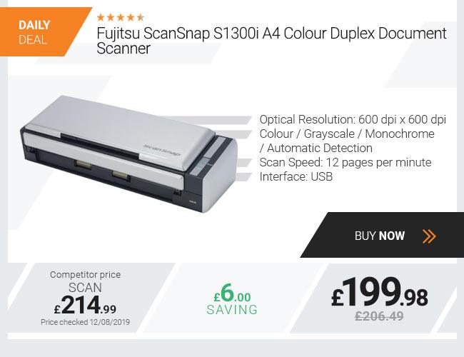 Fujitsu ScanSnap S1300i A4 Colour Duplex Document Scanner