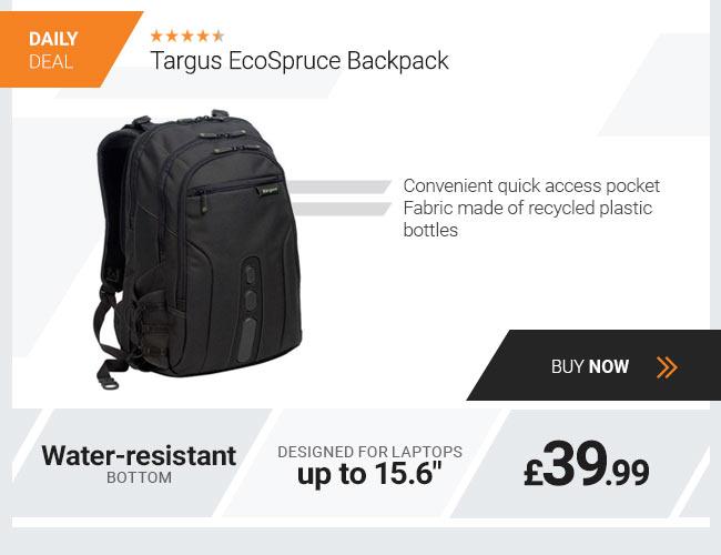 Targus EcoSpruce Backpack For Laptops up to 15.6 - Black