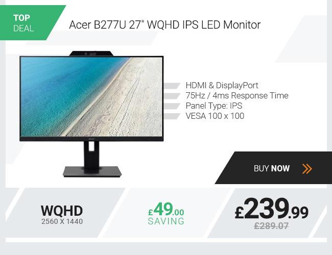 Acer B277U 27in WQHD IPS LED Monitor