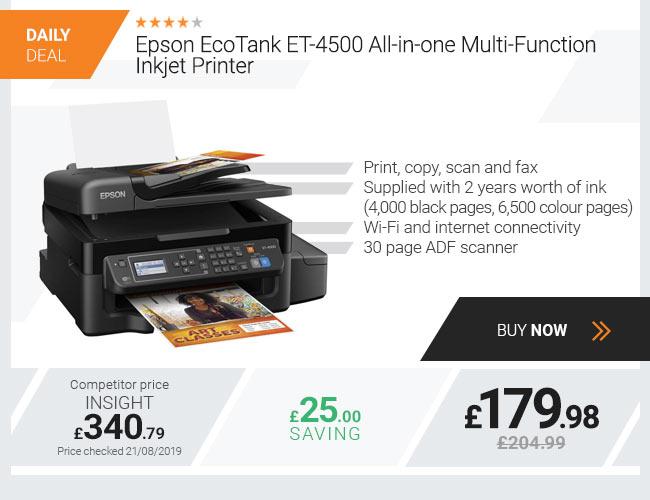 Epson EcoTank ET-4500 All-in-one Multi-Function Inkjet Printer