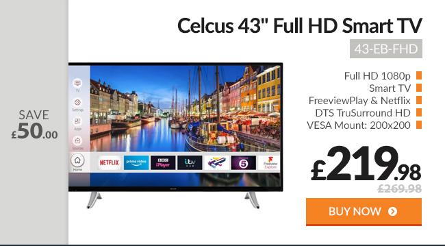Celcus 43in Full HD Smart TV