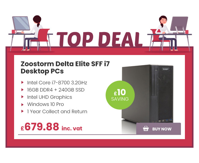 Zoostorm Delta Elite SFF i7 Desktop PCs