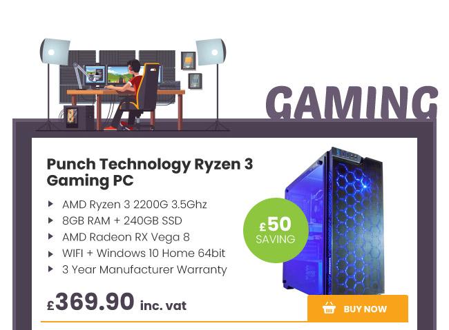 Punch Technology Ryzen 3 Gaming PC