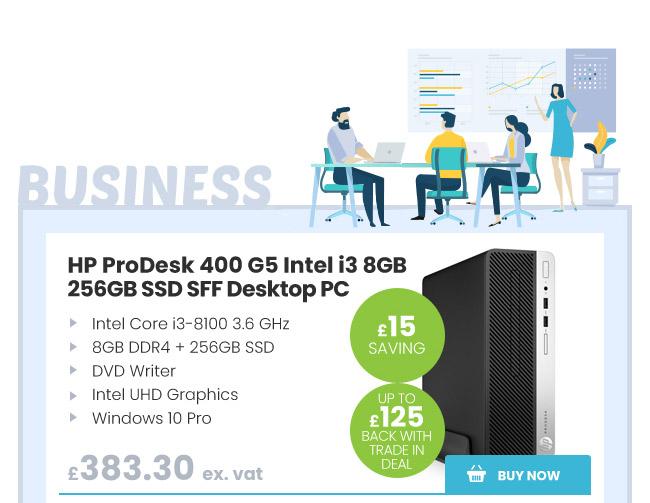 HP ProDesk 400 G5 Intel i3 8GB 256GB SSD SFF Desktop PC