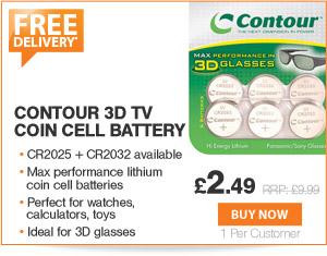 Contour Batteries - £2.49