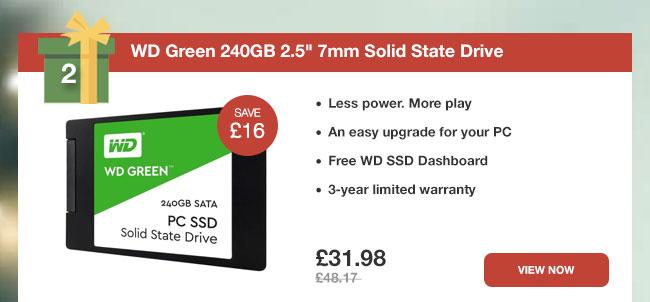 WD Green 240GB 2.5in 7mm Solid State Drive