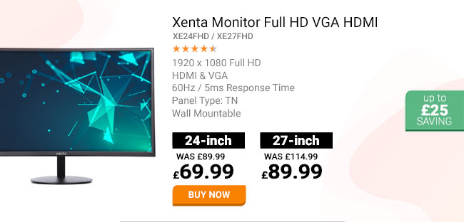 Xenta 24in Monitor Full HD VGA HDMI