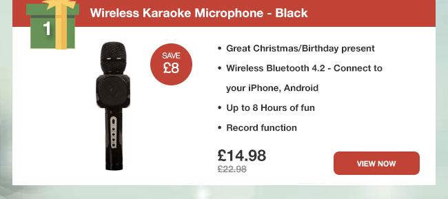 Wireless Karaoke Microphone - Black