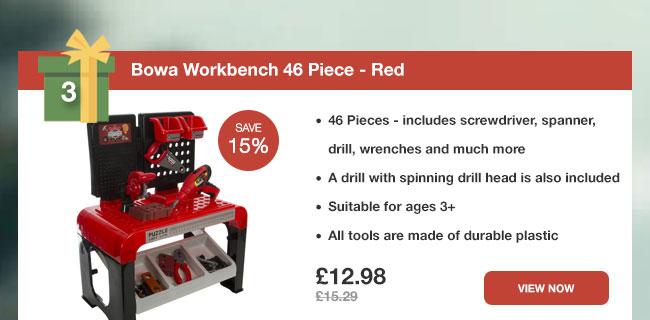 Bowa Workbench 46 Piece - Red
