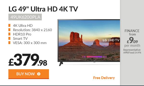 LG 49UK6200PLA 49in Ultra HD 4K TV
