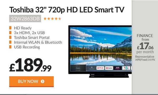 Toshiba 32W2863DB 32in 720p HD Ready LED Smart TV