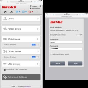 Buffalo LinkStation 210 2TB 1-bay (1 x 2TB) NAS Drive