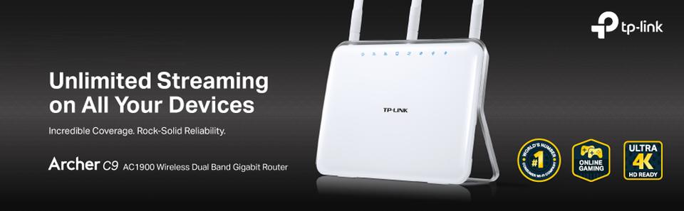 TP-Link Archer C9 - AC1900 Wireless Dual Band Gigabit Router