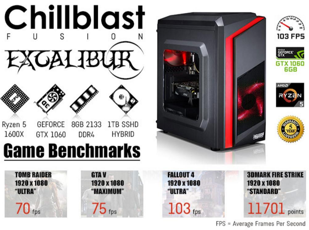 Chillblast Fusion Excalibur 1060 Gaming PC - Gaming at Ebuyer